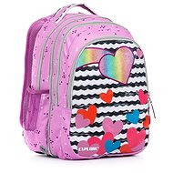 Anna Purple Hearts 2-in-1 - School Backpack