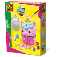 SES Casting and Painting Cupcake with Glitter