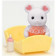Sylvanian Families Marshmallow Mouse Baby with accessories - Game set