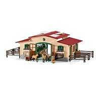 Schleich 42195 Stables with horses and accessories