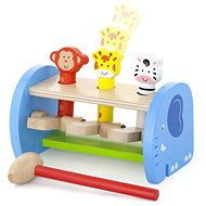 Wooden Hammer Hit and Jump with Animals - Wooden Toy
