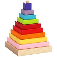 Cubika 13357 Multicoloured Pyramid - Wooden Toy