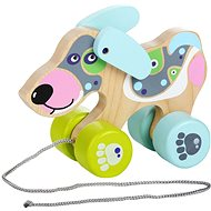 Cubika 13364 Push & Pull Happy Puppy - Wooden Toy