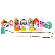 Cubika 14309 Fairy Tales - lacing set - Wooden Toy