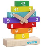 Cubika 14354 Clock with Magnetic Hands - Wooden Toy