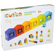 Cubika 14866 Colourful Houses - Wooden Toy