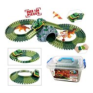 Runway with Dinosaurs and Tunnel, 104 Parts - Slot Car Track