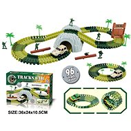 Track with Soldiers and Tunnel, 96 Parts - Slot Car Track