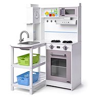Woody Corner Kitchen with Plastic baskets, White - Children's Kitchen Set