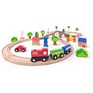 Woody Figure-Eight with Train, 40 Parts