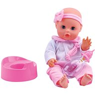 Baby Bambolina Amore 33cm with Firm Body and Varied Functions - Doll