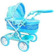 Rappa Blue Pram with snowflakes - Doll Stroller
