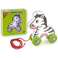 Zebra pulling wooden - Push and Pull Toy