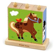 Cubes - farm animal 9 pieces - Dice game