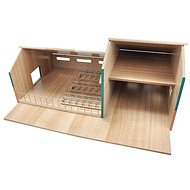 Mikro Trading Kids Globe Stables with a garage for tractors - Train Tracks Accessories