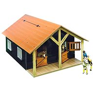 Mikro Trading Kids Globe Horse Stable with a Workshop - Brown - Train Tracks Accessories