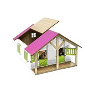 Mikro Trading Wooden Horse Stable Model - Pink - Train Tracks Accessories