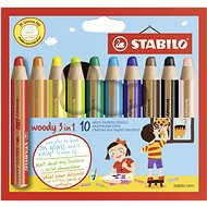 Stabilo Woody 10 Colours - Coloured Pencils