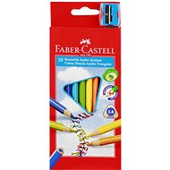 Faber-Castell Coloured Pencils Jumbo, 10 Colours - Coloured Pencils