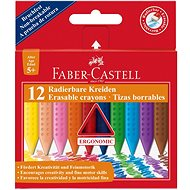Faber-Castell Erasable Grip Crayons, 12 Colours