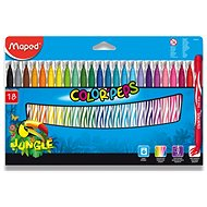 Mapped Color Peps Jungle, 18 colours - Felt Tip Pens