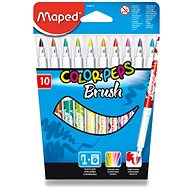 Maped Color Peps Brush, 10 colours - Felt Tip Pens