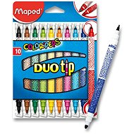 Maped Color Peps Duo Tips, 10 colours - Felt Tip Pens