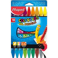 Maped ColorPeps Oil Pastels, 18 Colours - Coloured Pencils