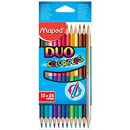 Maped Duo Color Peps - 24 colours - Coloured Pencils