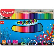 Maped Color Peps Metal Box, 48 colours