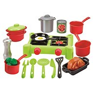 Ecoiffier Cooker with a Large Set of Dishes - Cookware Set