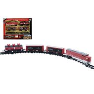 Train + 3 wagons with rails 16 pieces - Train Set