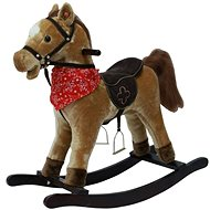 Light Brown Rocking Horse - Plush Toy