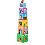 Small foot Tower of cubes with animals - Educational toy