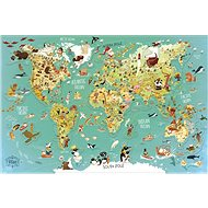 Vilac wall magnetic puzzle world map 78 pieces - Puzzle
