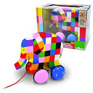 Vilac colourful toy Elmer the elephant - Push and Pull Toy