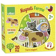 Vilac Wooden magnets Farm 20pcs - Game Set