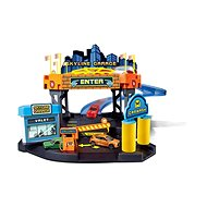 Bburago Street Fire Skyline Garage Playset + 1pc Car in a 1:43 Scale - Game set