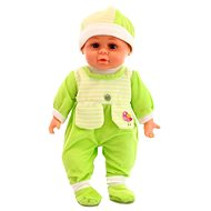 Doll with sounds - green - Baby