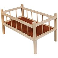 Wooden bed - Furniture for Dolls