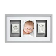 Pearhead Tri-Frame Imprints in Gray - Photo Frame