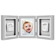 Pearhead Tri-Frame Desk Imprints in Gray - Photo Frame