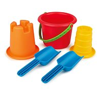 Hape 5-in-1 Buckets and Spades - Sand Tool Kit