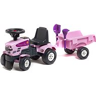 Baby Princess Tractor with Trailer - Ride-On Toy
