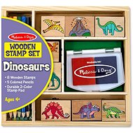 Wooden Stamps in a Box Dino - Stamps