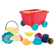 Carriage with sand toys red - Sand Tool Kit