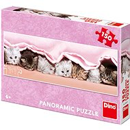Kittens under the blanket - panoramic - Puzzle