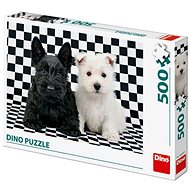 Black and White Dogs - Puzzle