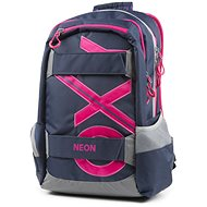 OXY Sport Blue Line Pink - School Backpack