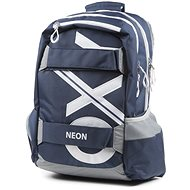 OXY Sports Blue Line White - School Backpack